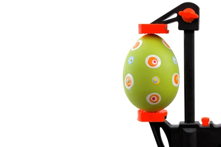 vise: Easter theme: Green Easter egg and vise grip