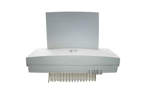 shredder machine: Paper shredder machine isolated on white background