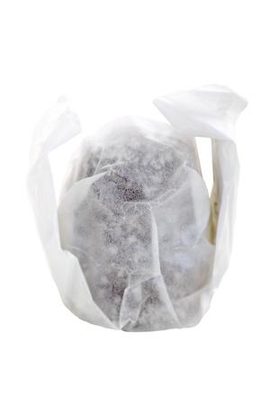 marshmellow: Wrapped chocolate marshmellow isolated on white background