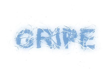 gripe: A frozen wordphrase from a serie isolated on a white background. Gripe in Portuguese-Br language means InfluenzaFlu.