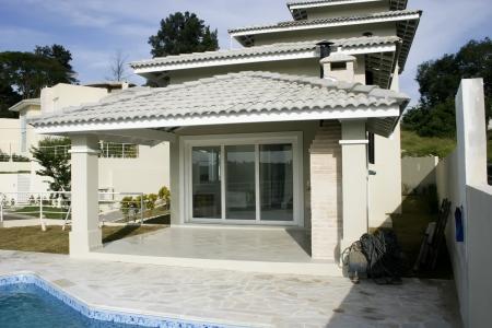 House backyard with swimming pool Stock Photo - 19035605