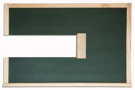 Erased chalkboard. isolated on white background Stock Photo - 18314013