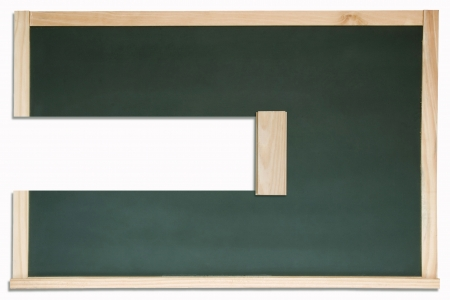 Erased chalkboard. isolated on white background Stock Photo - 18314013