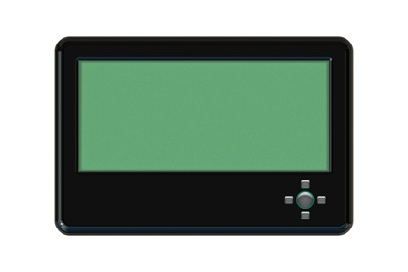 pager: Isolated Pager isolated on white background Stock Photo