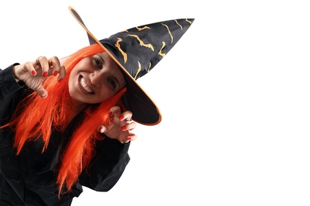 sorcery: Witch sorcery from corner a great image for your job  Stock Photo