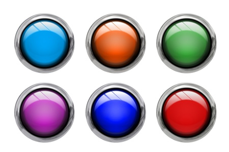 Set of colored buttons isolated on white background Stock Photo - 18582106