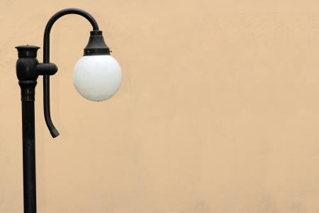 Garden lamp on left side photo