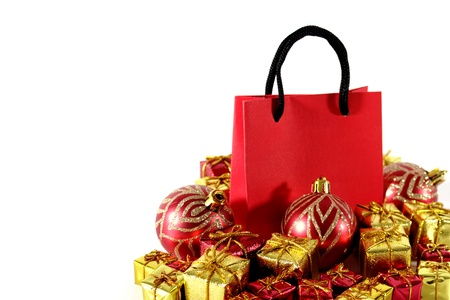 buying time: Christmas buying time isolated on white background Stock Photo
