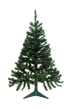 Christmas pine tree for decoration isolated on white background photo