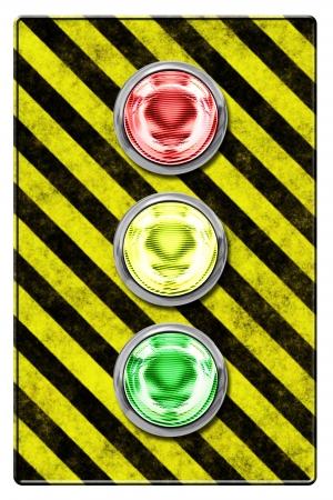 Traffic light (illustration) isolated on white background Stock Illustration - 18583333