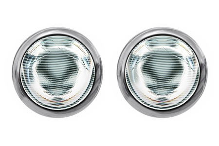 isolated head lights isolated on white background Stock Photo - 18581233