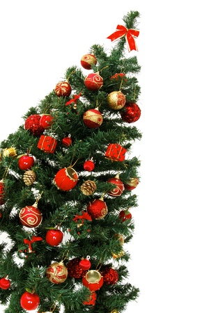 Christmas tree isolated on white isolated on white background photo