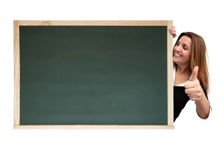 Cool message on chalkboard isolated on white background photo