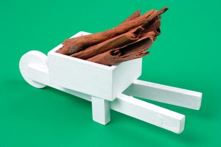 pushcart: Photo of Pushcart with cinnamons Stock Photo