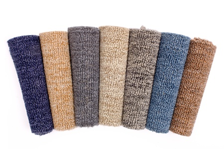 carpet flooring: Photo of colorful carpet rolls