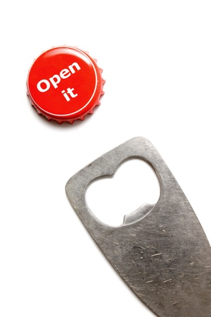 bottle cap opener: Photo of Open it