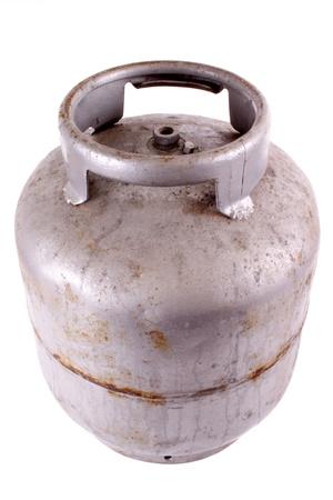 butane: Foto del tanque de gas butano Rusty
