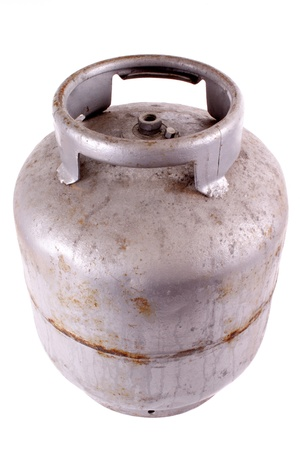 butane: Photo of Rusty butane gas tank
