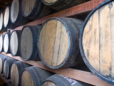 stockpiling: Foto del almacenamiento Rum Foto de archivo