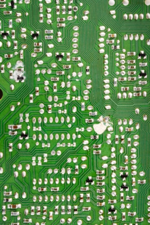 solders: Photo of Circuit board solders