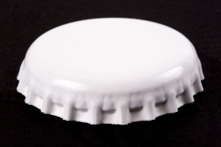 non alcoholic beer: Photo of Blank bottle cap