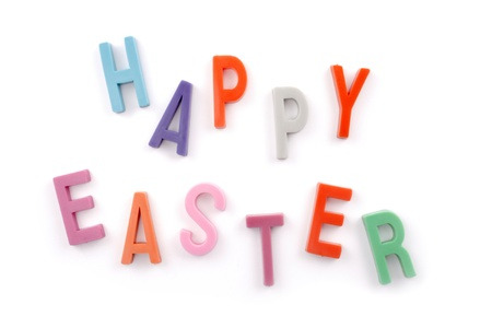 favours: Photo of Happy Easter text