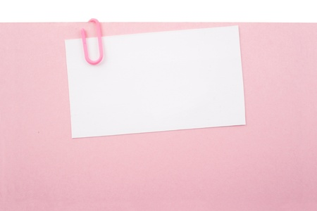 Photo of Clipped pink paper Stock Photo - 18581633