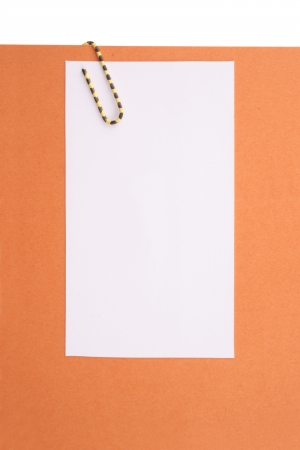 Photo of Clipped message orange paper Stock Photo - 18582034