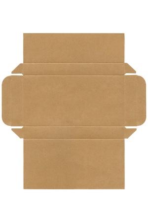 die cut: Photo of Cardboard box - die cut