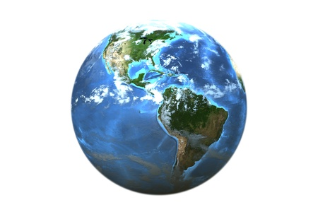 Three dimensional image of planet earth. Stock Photo - 18600083