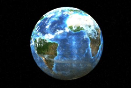 Three dimensional image of a dotted planet earth. Stock Photo - 18601087