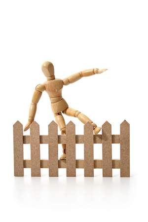 A dummy jumping the fence. photo