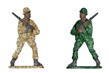 rifleman: Los soldados aislados en el fondo blanco - Desierto y el camuflaje bosque