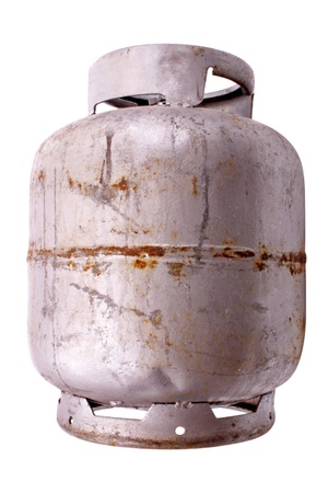 liquified: Silver liquified petroleum gas. Stock Photo