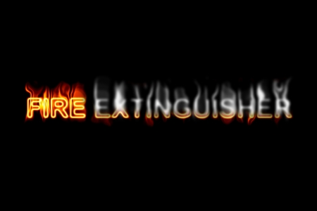 inflammable: A fired word phrase from a text effect serie isolated on a black background