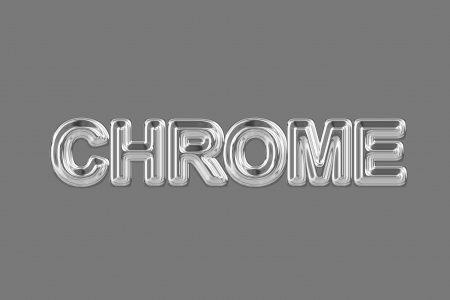 chromeplated: A chromed wordphrase from a text effect serie. Stock Photo