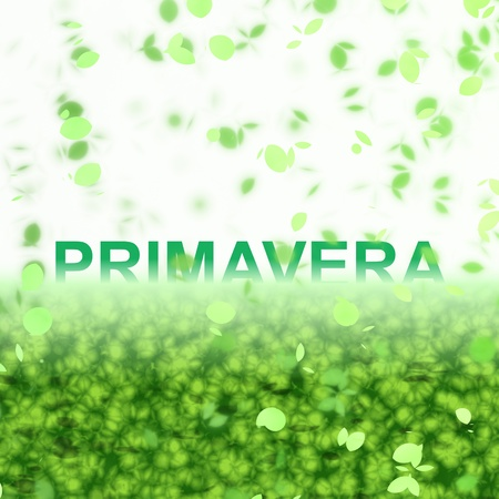 primavera: A seasonal wordphrase from a text effect serie. Primavera is in Portuguese-BR language and it means Spring Stock Photo