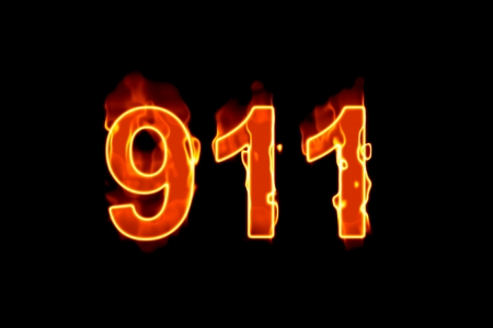 911 burning text (Text serie)