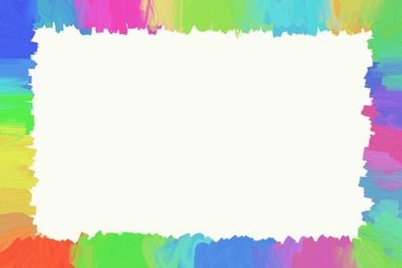 brushstrokes: Colored brushstrokes frame