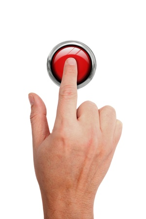 Pressing STOP button Stock Photo