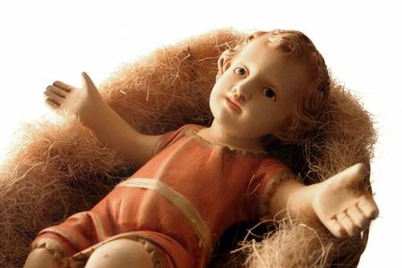 The savior baby isolated on white background Standard-Bild