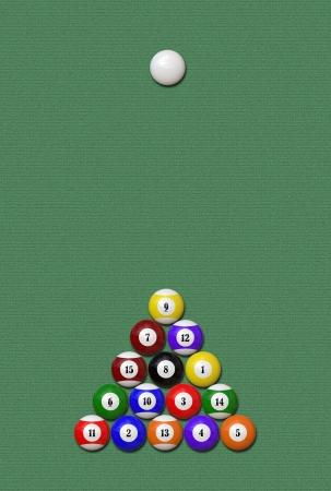 lows: A set of balls for billiard  pool theme