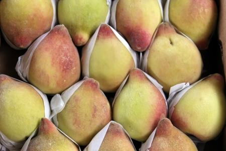 Closeup of peaches produce Stock Photo - 18600596
