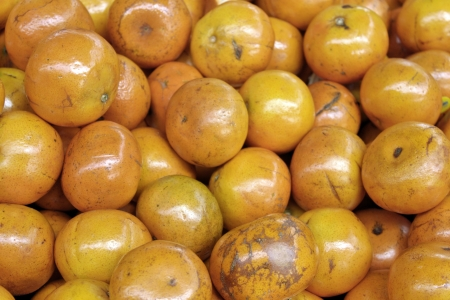 mandarina: Closeup of tangerine produce Stock Photo