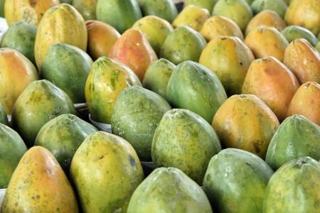 Closeup of papaya produce Stock Photo - 18600463