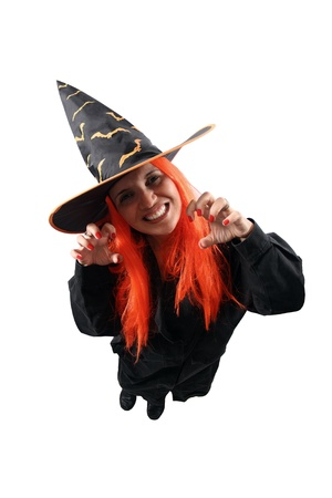 Witch sorcery isolated on white background photo