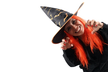 sorcery: Witch sorcery isolated on white background