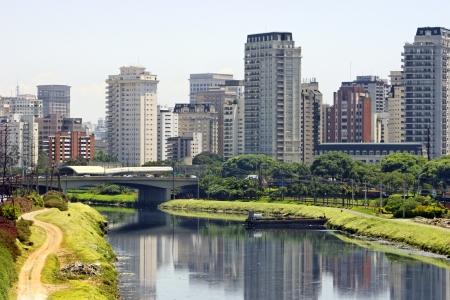 Sao paulo city and river - Brazil Standard-Bild