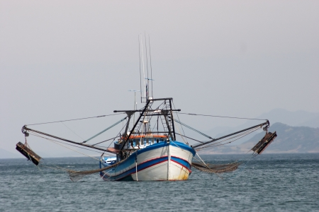 shrimp boat: Photo of Fishing boat Stock Photo