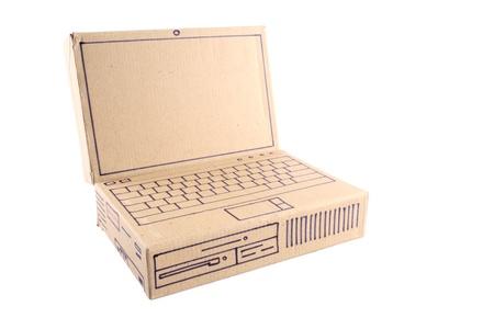 Photo of Laptop - Cardboard photo